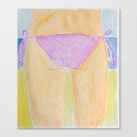 bikini Canvas Prints featuring Bikini  by Walls Adorned