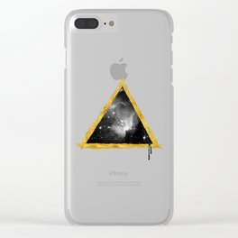 Cosmos Pyramid Clear iPhone Case