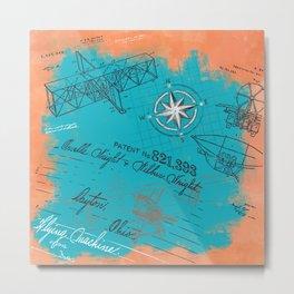 Retro flying Metal Print