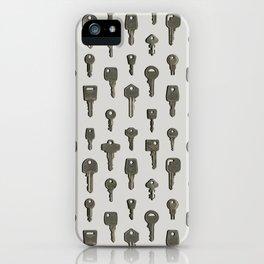 Silver Keys iPhone Case