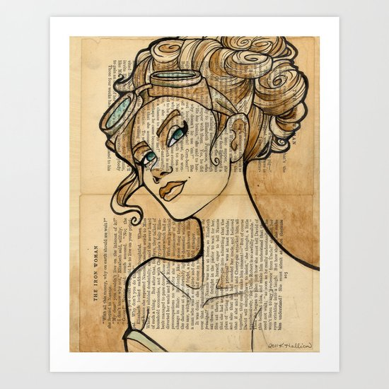 The Iron Woman 5 Art Print