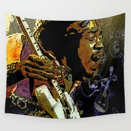 Jimmy Hendrix Wall Tapestry