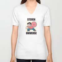 steven universe V-neck T-shirts featuring Steven by ZoeStanleyArts