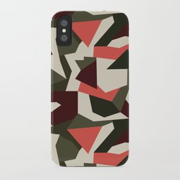 Camouflage pattern iPhone Case