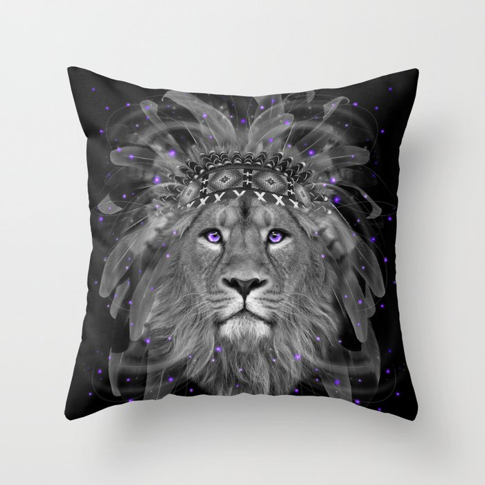Don't Define Your World (Chief of Dreams: Lion) Tribe Series Throw Pillow