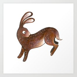Run, Rabbit, Run! Art Print