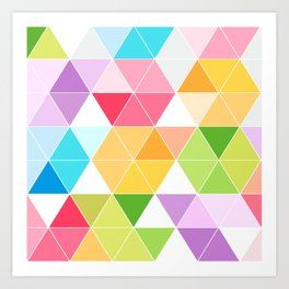Colorful Triangle Mosaic Art Print