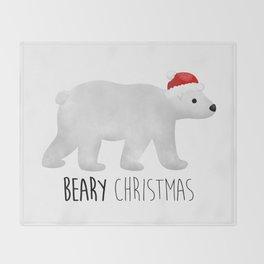 Beary Christmas | Polar Bear Throw Blanket