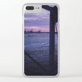 Sunset over the Water Clear iPhone Case