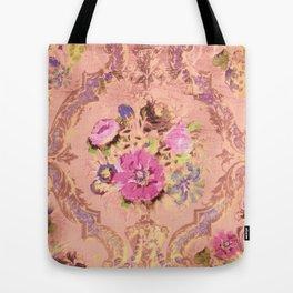 Flowers in a Pink Sky Tote Bag