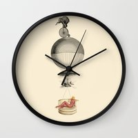 fig Wall Clocks featuring Fig.5. by TRASH RIOT