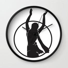 Golden Avatar Black Wall Clock