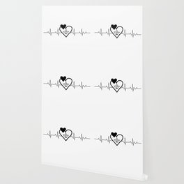 Airplanes Heartbeat Funny Pilot Wallpaper