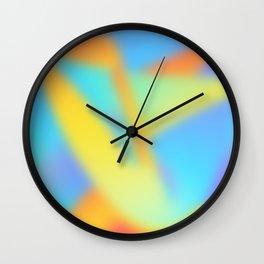 pastel shades of rainbow Wall Clock