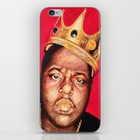 biggie smalls iPhone & iPod Skins featuring Biggie Smalls by Danielle Mariah