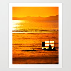 Gold in the haze of Summer Art Print