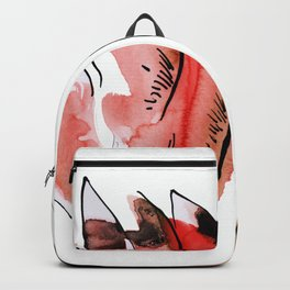Flowers in Red Backpack