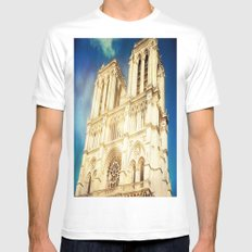 Notre Dame Mens Fitted Tee White MEDIUM