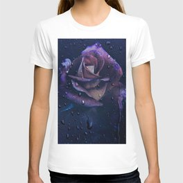 Blue,Purple And Lilac Rose T-shirt