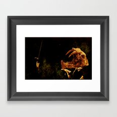 My corrupt crescendos will leave you out on a limbo Framed Art Print