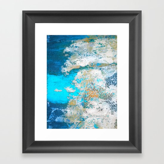 PEEL OFF Framed Art Print