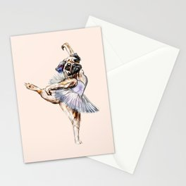 Pug Ballerina in Dog Ballet | Swan Lake  Stationery Cards