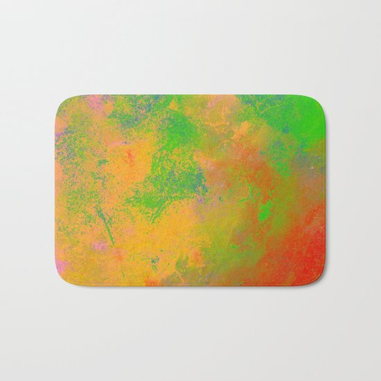 Taste The Rainbow - Multi coloured, abstract, textured painting Bath Mat