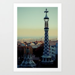 Barcelona: View from Parc Guell Art Print