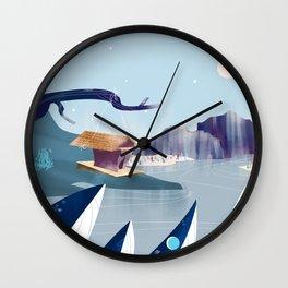 Polar Fish Wall Clock
