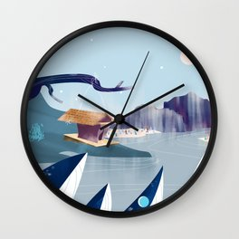 Polar Fish Wall Clock