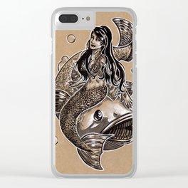 Mermaid Sea Bass Clear iPhone Case