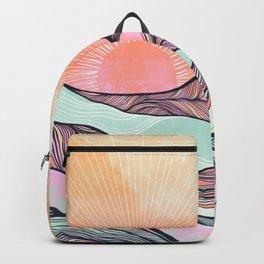 Sunset Mountain Morning  Backpack