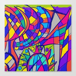 Color me in Canvas Print