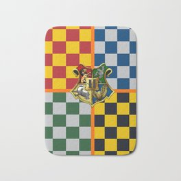 Hogwarts Crest Stripes Bath Mat