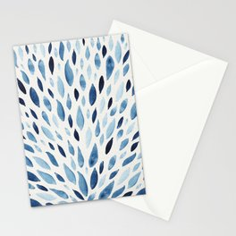Blue watercolour pattern Stationery Cards