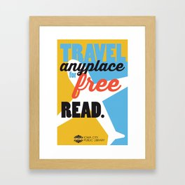 Travel - Iowa City Public Library Framed Art Print