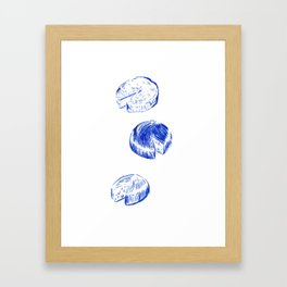 Threeses Cheeses Framed Art Print