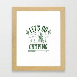 let's go camping in green Framed Art Print