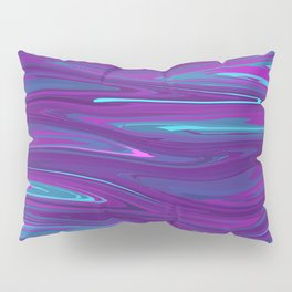 Pink, Purple, and Blue Waves 2 (rotated) Pillow Sham