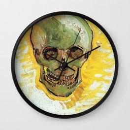Vincent Van Gogh - Skull (new color editing) Wall Clock