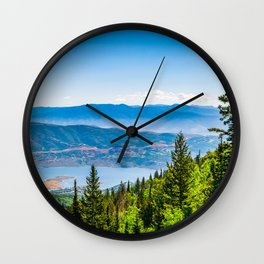 Park City Deer Valley Utah Landscape Print Wall Clock