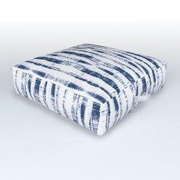 Shibori Stripes 2 Indigo Blue Outdoor Floor Cushion