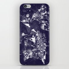 world map galaxy sky iPhone & iPod Skin
