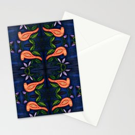 Palomas Noche Symmetrical Art3 Stationery Cards