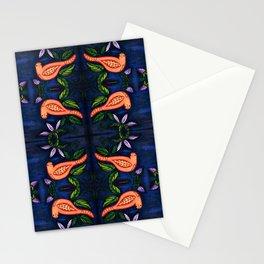 Palomas Noche Symmetrical Art3 Stationery Cards