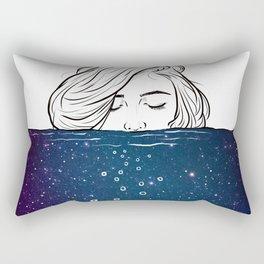 Deep breathing. Rectangular Pillow
