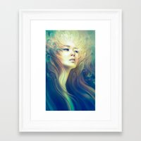 crown Framed Art Prints featuring Crown by Anna Dittmann