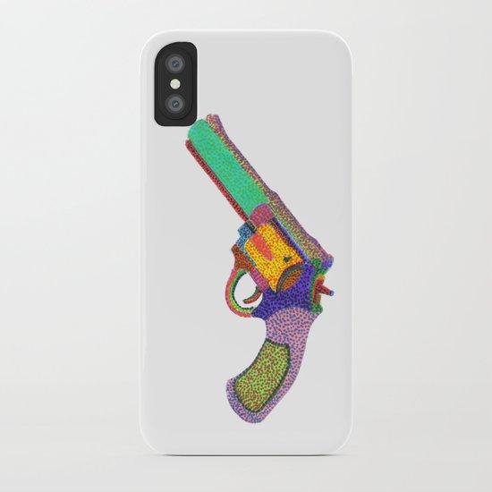 gun shoots color iPhone Case