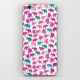 Watercolor Elephant Stampede Pretty Pattern iPhone Skin