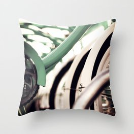 Vintage Bikes Throw Pillow